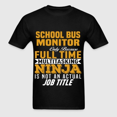 School Bus Monitor - Men's T-Shirt