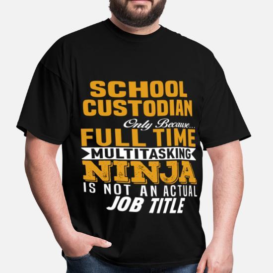 ec097bb5 Front. Back. Back. Design. Front. Front. Back. Design. Front. Front. Back.  Back. School T-Shirts - School Custodian - Men's ...