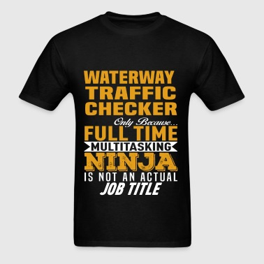 Waterway Traffic Checker - Men's T-Shirt