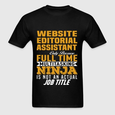 Website Editorial Assistant - Men's T-Shirt