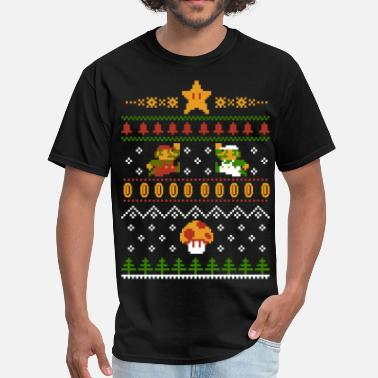 Luigi Retro Christmas - Men's T-Shirt