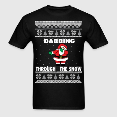 Dabbing Ugly Sweater Santa - Men's T-Shirt