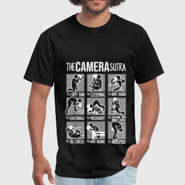 Comma The Camera Sutra Funny T shirt - Men's T-Shirt