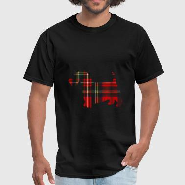 Scottish Terrier Christmas Red Plaid T Shirt Tarta - Men's T-Shirt