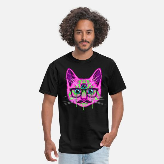 Psychedelic T-Shirts - Trip Cat - Men's T-Shirt black