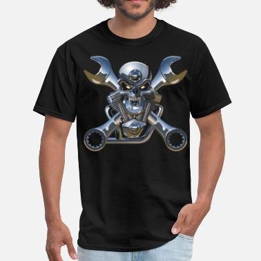 Crossed Wrenches Metal Skull and Cross Wrenches - Men's T-Shirt