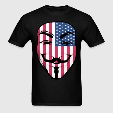 Guy Fawkes American Flag - Men's T-Shirt