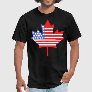 Usa Canada Canadian American - Men's T-Shirt