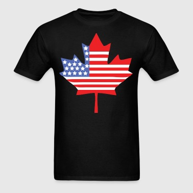 Canadian American - Men's T-Shirt