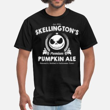 Pumpkin Skellington's Pumpkin Ale - Men's T-Shirt