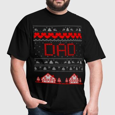 Dad Ugly Christmas Sweater - Men's T-Shirt