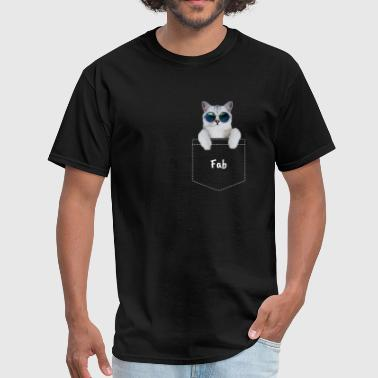 Fabulous Pocket Cat - Men's T-Shirt