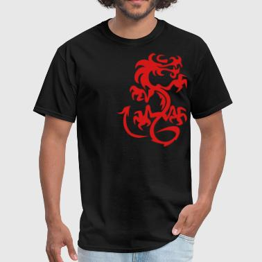 Red Oriental Dragon - Men's T-Shirt