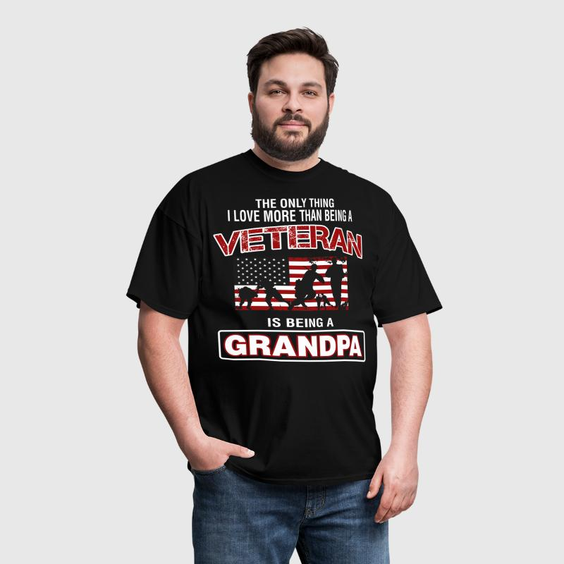 Veteran Is Being A Grandpa - Men's T-Shirt