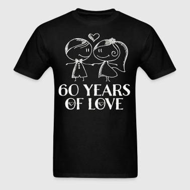 60th Wedding Anniversary Couples Gift - Men's T-Shirt