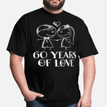 50th Anniversary 60th Wedding Anniversary Couples Gift - Men's T-Shirt