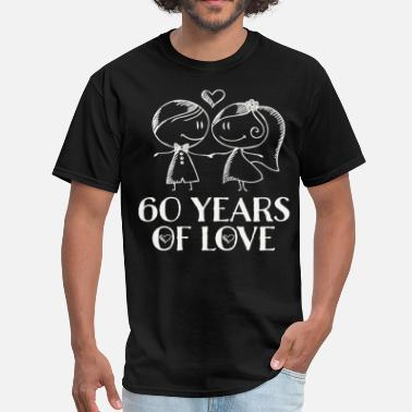 60th Anniversary 60th Wedding Anniversary Couples Gift - Men's T-Shirt