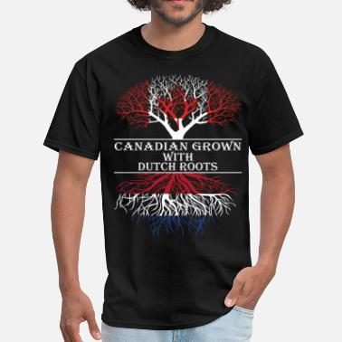 Dutch Roots Canadian Grown With Dutch Roots - Men's T-Shirt
