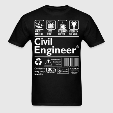 Beer Require Coffee Problem Solving Civil Engineer - Men's T-Shirt