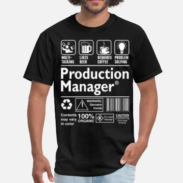 Manager Production Manager Multitasking Beer Coffee Proble - Men's T-Shirt
