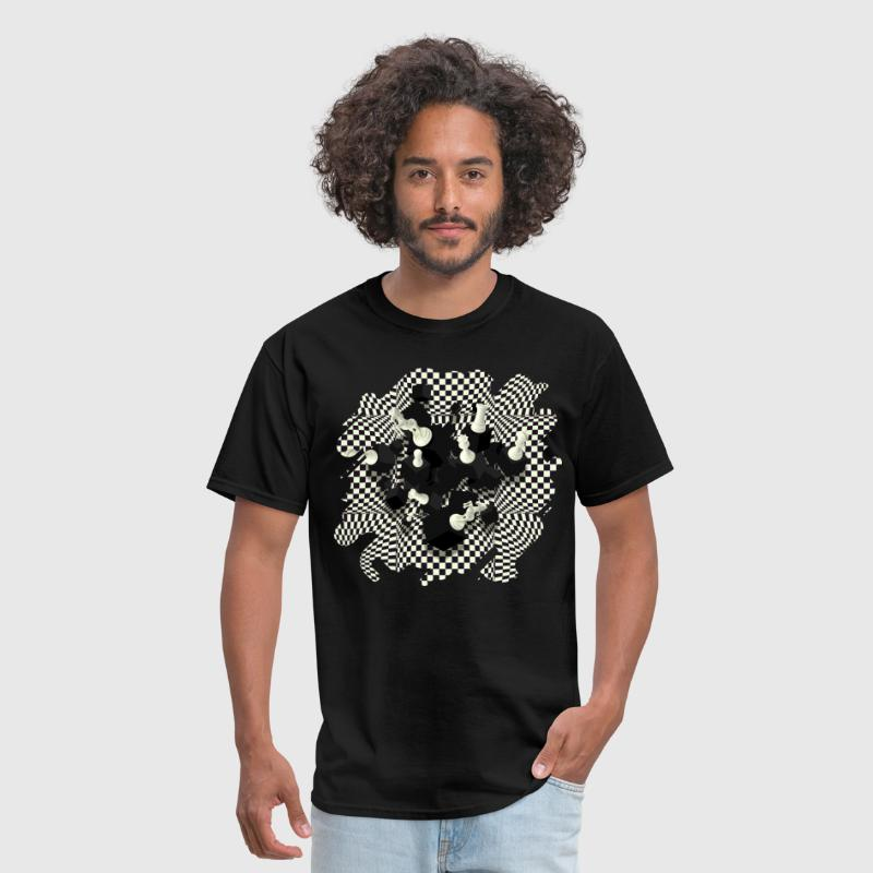 3D Chess Pieces - Men's T-Shirt