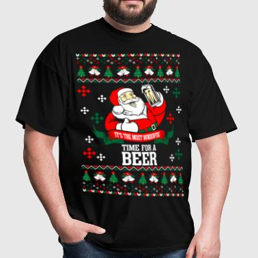 It's the Most Wonderful Time For A Beer Ugly Chris - Men's T-Shirt
