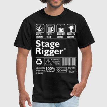 Stage Rigger Multitasking Beer Coffee Problem  - Men's T-Shirt