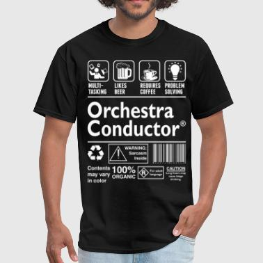 Conductor Orchestra Orchestra Conductor Multitasking Beer Coffee  - Men's T-Shirt