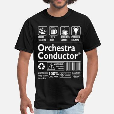 Orchestra Conductor Orchestra Conductor Multitasking Beer Coffee  - Men's T-Shirt
