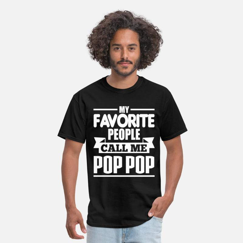 Grandad T-Shirts - My Favorite People Call Me POP POP - Men's T-Shirt black