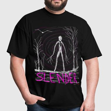 creepy slender man - Men's T-Shirt