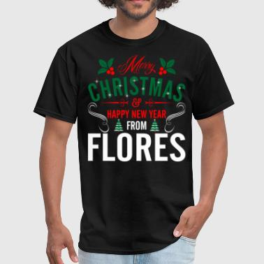 Flores mery_christmas_happy_new_year_from_flore - Men's T-Shirt