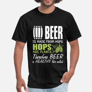 Nude Beer Pong Beer - Therefore beer is healthy like salad - Men's T-Shirt