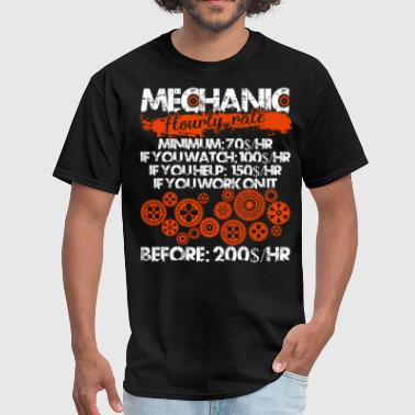 Being An Engineer Mechanic Hourly Rate T Shirt, Mechanic T Shirt - Men's T-Shirt