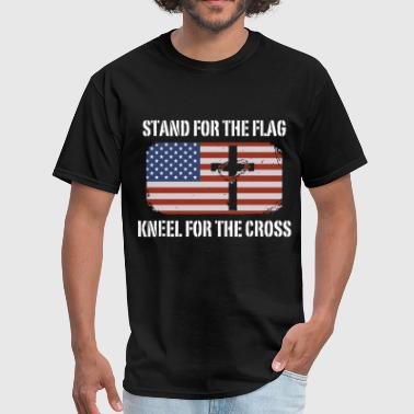 Flag Sportswear stand for the flag kneel for the cross patriotic - Men's T-Shirt