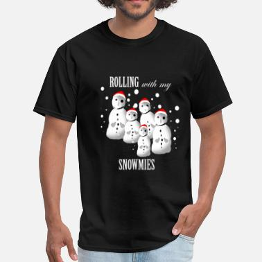 Funny Gangsta Snowmen Ugly Christmas Sweater-Funny - Men's T-Shirt