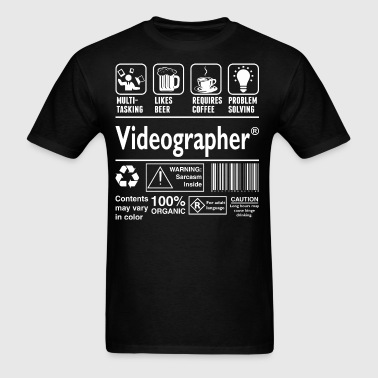 Videographer Multitasking Beer Coffee Problem  - Men's T-Shirt