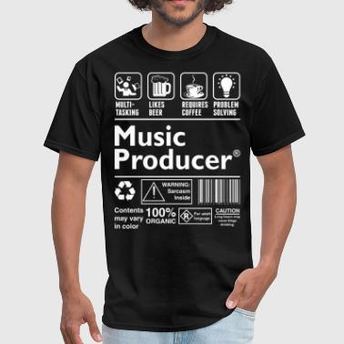 Music Music Producer Multitasking Beer Coffee Problem - Men's T-Shirt