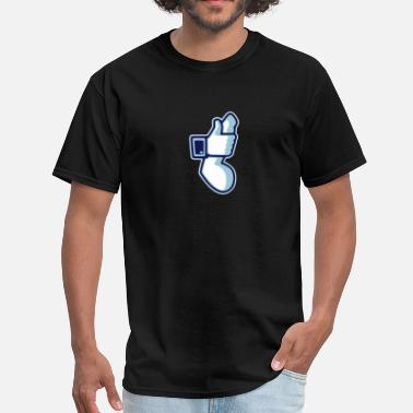 Cock Thumbs Up Like - Men's T-Shirt