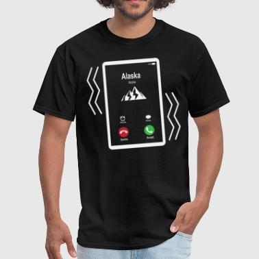 Alaska Mobile is Calling Mobile - Men's T-Shirt