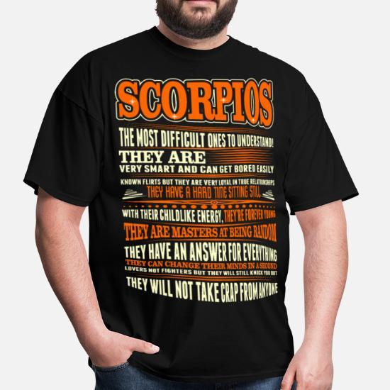 63f7fd8ef858c Scorpios Difficult Ones To Understand Zodiac Shirt Men's T-Shirt ...