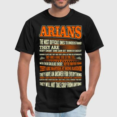 Aries Horoscope Arians Difficult Ones To Understand Zodiac Tshirt - Men's T-Shirt