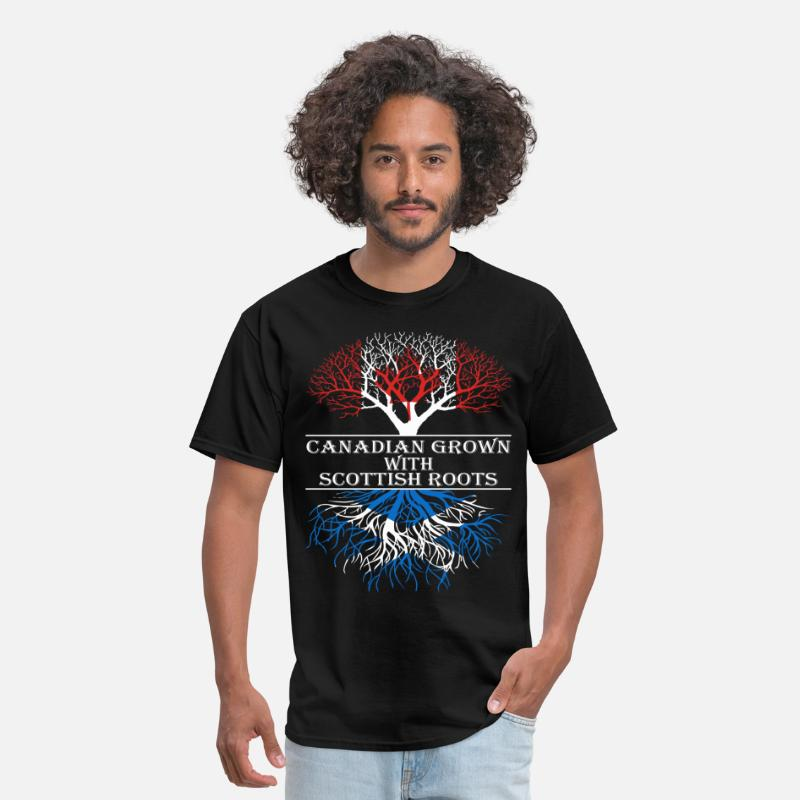 Scottish T-Shirts - Canadian Grown With Scottish Roots - Men's T-Shirt black