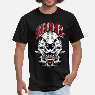 Hog Hunting wild_hog_skull - Men's T-Shirt