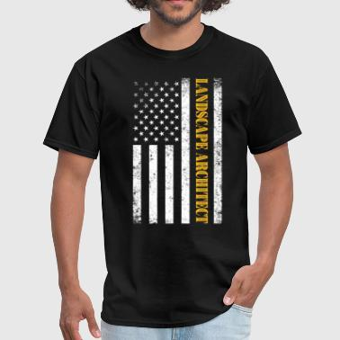 Vintage American USA Flag - Landscape Architect - Men's T-Shirt