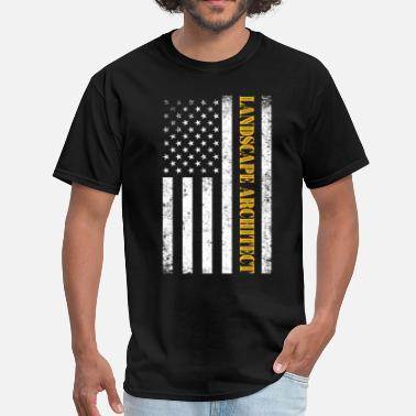 Landscape Architect Vintage American USA Flag - Landscape Architect - Men's T-Shirt