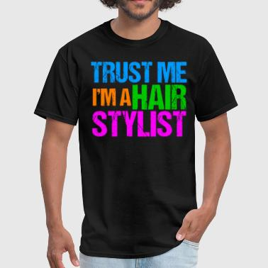 Beauty Salon Funny Hair Stylist Cool Neon Hairdresser - Men's T-Shirt