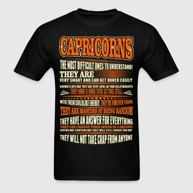 Capricorns Difficult Ones To Understand Zodiac Tee - Men's T-Shirt