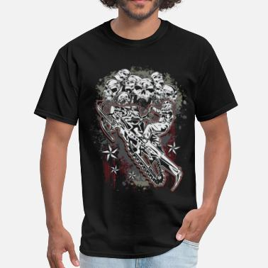 Sled Snowmobile Skull Bunch - Men's T-Shirt