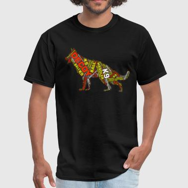 German Shepherd Art German Shepherd Word Art - Men's T-Shirt